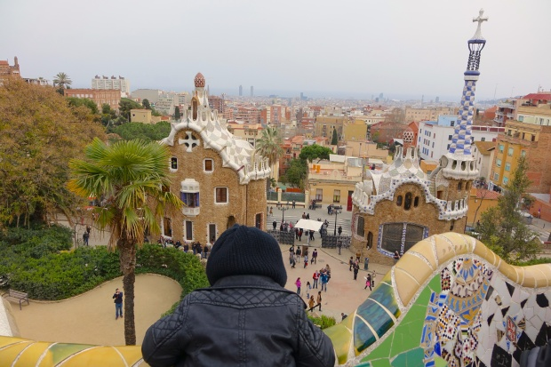 A glimpse of Parc Guell
